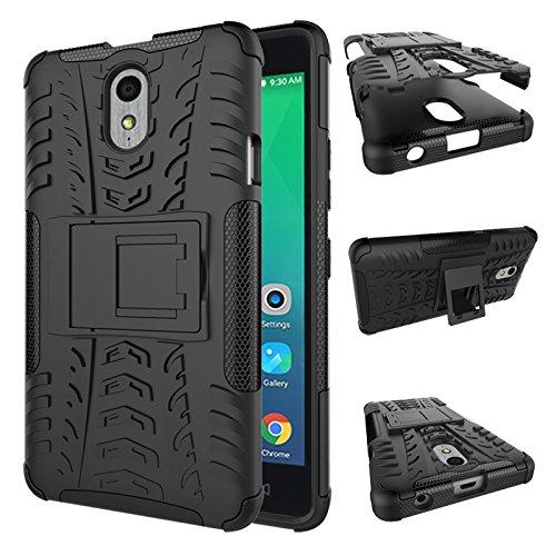 SsHhUu Lenovo Vibe P1m Hülle, Premium Rugged Stoßdämpfung und Staubabweisend Kompletter Schutz Hybrid-Koffer mit Ständer Telefon Kasten für Lenovo Vibe P1m (5.0