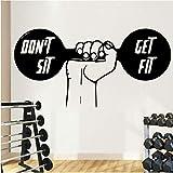 Gewichtheben Gewicht Wandaufkleber Home Fitnessraum Firma Büro Schlafzimmer Wohnzimmer Dekorative...