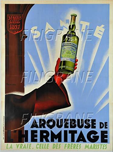 PostersAndCo TM Arquebuse de L'HERMITAGE Rjtp-Poster/Reproduktion 60 x 80 cm * d1 Poster Vintage/Retro