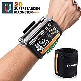 ERKOON Magnetische Armbänder, Extra starken Magnetisches Armband mit 20 kraftvollen Magneten, zum...