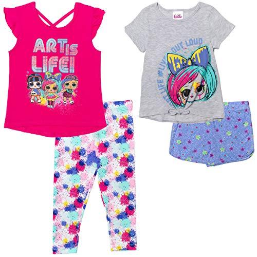 L.O.L. Surprise! Toddler Girls Mix n' Match T-Shirt Legging Shorts Set 2T