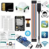 ESP32 CAM Arduino Kits Monitor Snapshot Face Detection Recognition WiFi Bluetooth Camera Module with 128M SD Card USB to Serial Cable HC-SR501 Sound Sensor Compatible for Arduino IDE(Tutorial)