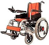 DLXYch Silla de ruedas plegable ligera de doble función (batería de iones de litio), impulsión con energía eléctrica o uso como silla de ruedas manual