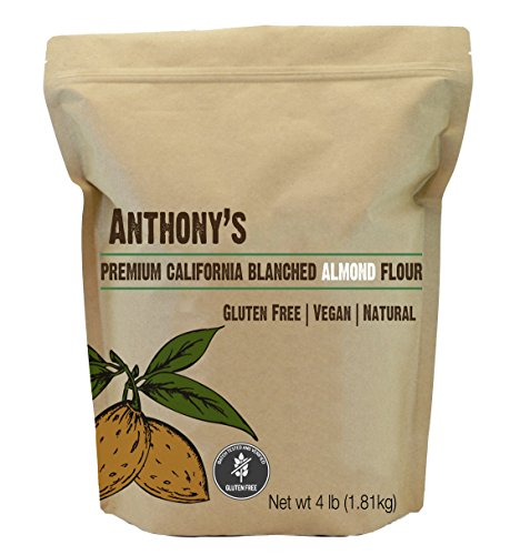Anthony's Almond Flour Blanched (4lb), Batch Tested Gluten-Free, Non-GMO & Vegan