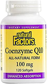 Natural Factors, Coenzyme Q10, 100 mg, 2 Pack (120 Softgels Each )