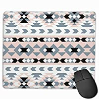 """Mod Southwest Geometric Blush And Black Mouse Pad Non-Slip Rubber Gaming Mouse Pad Rectangle Mouse Pads for Computers Desktops Laptop 9.8"""" x 11.8"""""""