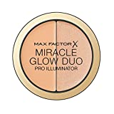 Max Factor Miracle Glow Duo Pro Illuminator, Creamy Highlighter,2-Medium