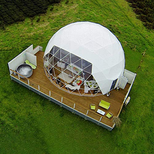 ZYJFP Outdoor Transparent Tent, Garden Igloo 360° Dome, Single Layer Anti-Privacy Passage Outdoor Luxurious Semitransparent Inflatable Bubble Tent Family Camping Backyard,6MDiameter3.2Height