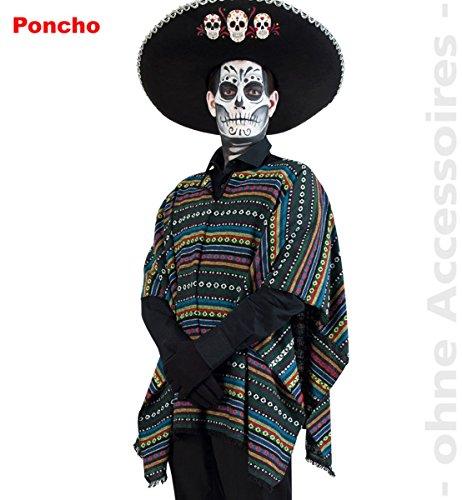 Party-Chic 14000 Kostüm-EL Paco-mexikanischer Poncho-OneSize