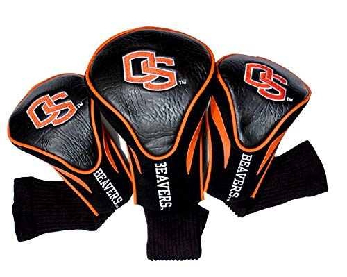 Team Golf NCAA Oregon State Beavers Contour Golf Club Headcovers 3 Count Numbered 1 3 X Fits Oversized Drivers Utility Rescue Fairway Clubs Velour lined for Extra Club Protection