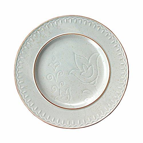 YUWANW Vintage Bleu Gris Sesam Glasur Plaque Creative Assiettes, Assiettes Rondes, Plaque Steak Plate, Plaque céramique, Assiette Plate, Assiette Small Plate