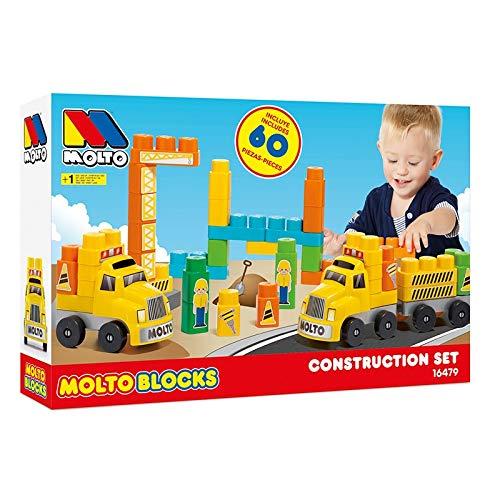 M MOLTO Camión de construcción de Bloques 60pcs
