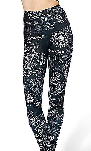 Abyelike Women's Digital Print Cosmic Galaxy Stretch Leggings Tights (Angle Transformer, One Size) steampunk buy now online