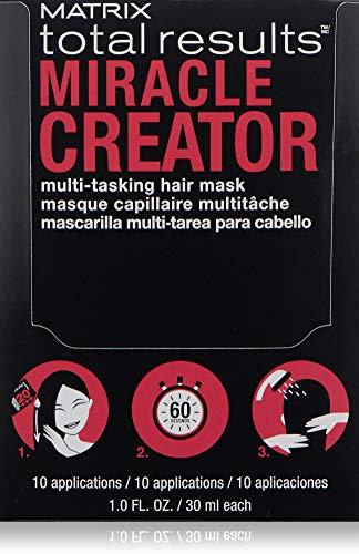 MATRIX Total Results Miracle Creator Multi-Tasking Hair Mask | Intensley Nourishes & Strengthens Hair | For Damaged Hair | Box of 10