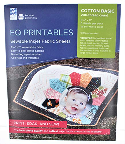 EQ Printables Inkjet Fabric Sheets,1 Pack