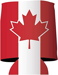 VictoryStore Can and Beverage Coolers - Canada Can Coolers, Set of 6 (Flag)