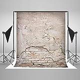 KateHome PHOTOSTUDIOS 1,5x2,2m(5x7ft) Fondo de fotografía de Pared de ladrillo Fondo de fotografía de Pared de ladrillo ruinoso Accesorios de Estudio de fotografía