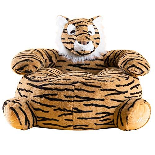 XLSQW Sofá Perezoso para niños, Silla de Bolso de Frijoles para niños y Adultos Tigre Armadilla Silla Playroom Dormitorio Dormitorio Niños Niños Regalo de cumpleaños para niños y niñas
