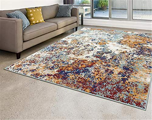 Persian Rugs 6490 Multi Colored 8 x 11 Abstract Modern Area Rug