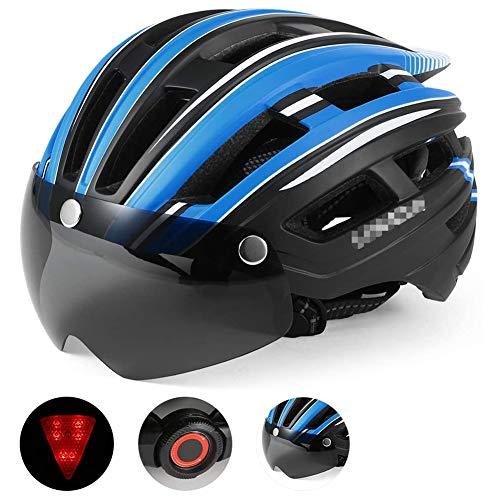 Casco de Motocicleta MTB Cascos Visera Desmontable protección UV magnética para Hombres...