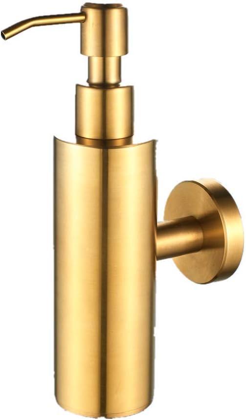 AOTAKE Brushed 激安超特価 Gold Soap Dispenser Stainless 新品 Refillable Steel Li