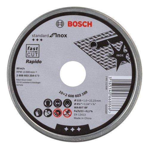 Bosch 2 608 603 254 - Disco de corte inox