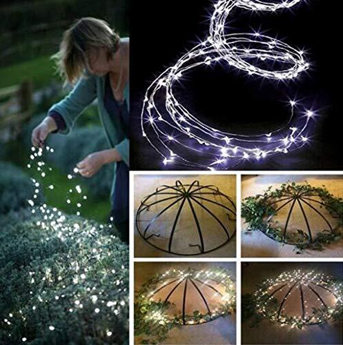 Hniunew Baum Lichter Lichterkette Garten 200 LEDs Lichterketten Firefly Licht Lampe String Lights wasserdichte Deko Fasching Innen/AußEn Lichterketten FüR Zimme,Terrasse,Babyzimmer