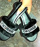 LJJYF Pantuflas de casa para Mujer,Zapatos de Mujer Moda Verano Sandalias Planas Zapatillas Sandalias planas-negro-EU41
