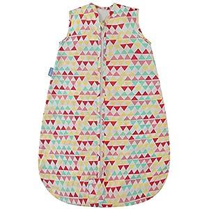 The Original Grobag – Saco de dormir para bebé, 0,5 tog, diseño de zigzag, color rosa, 100% algodón, para guardería…