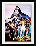 1art1 Rolling Stones - Tour 76 Gerahmtes Bild Mit Edlem