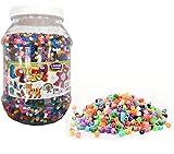Brigamo - 15.000 perline da stirare, in scatola, 15 colori assortiti