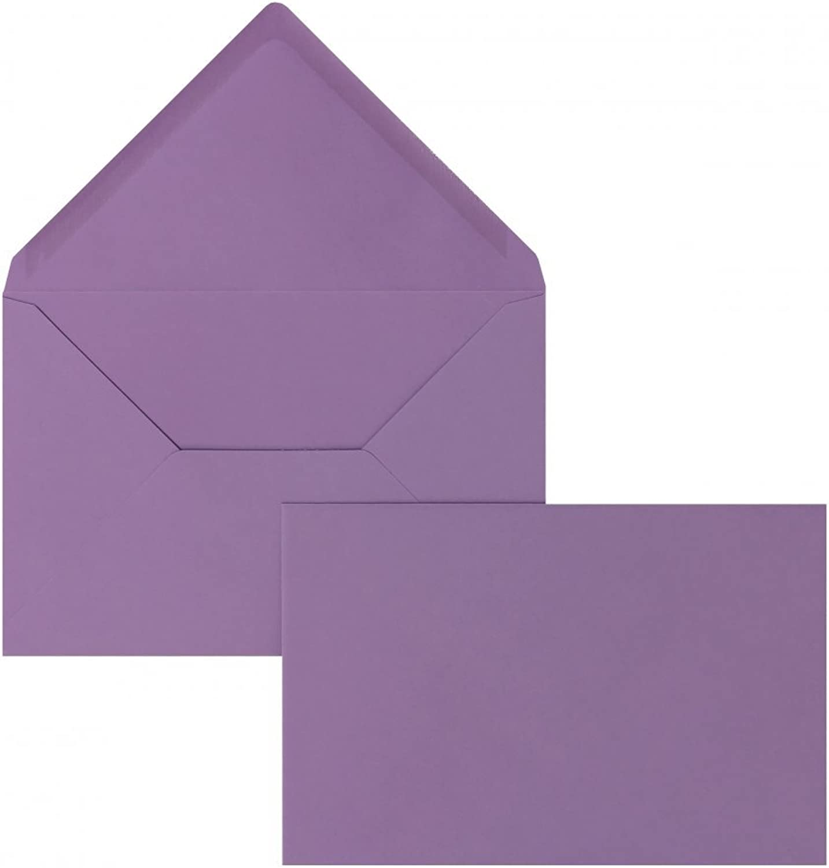Farbige Briefhüllen   Premium   114 x 162 162 162 mm (DIN C6) lilat (100 Stück) Nassklebung   Briefhüllen, KuGrüns, CouGrüns, Umschläge mit 2 Jahren Zufriedenheitsgarantie B01CGKI0N0 | Zu verkaufen  9e9424