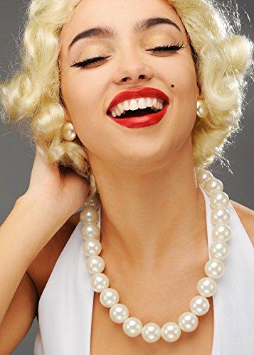 Struts Fancy Dress Womens 50er Jahre Stil große Perlenkette