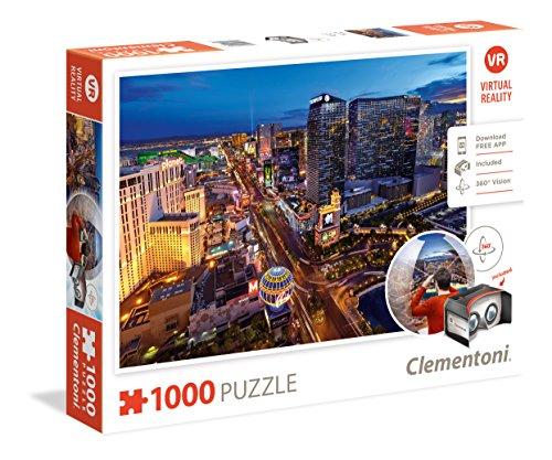 Clementoni - Puzzle Virtual Reality 100 Piezas Las Vegas (39404)