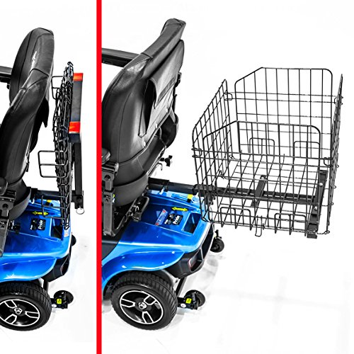 Challenger Mobility's Folding Rear Basket