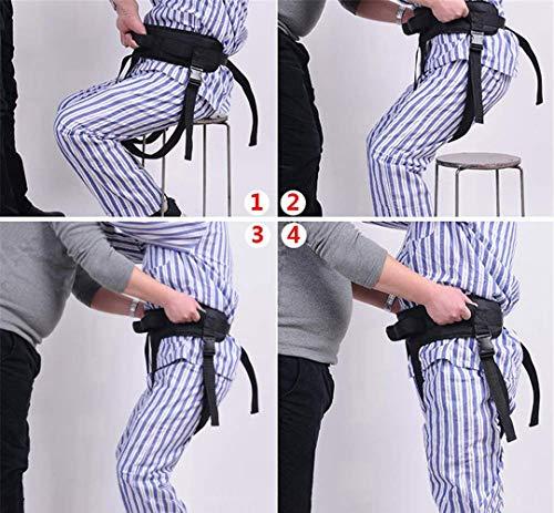 YxnGu Transfergurt mit Beinschlaufen - Sicherheitsgurtunterstützungsvorrichtung zum Transfer des Patienten vom Rollstuhl ins Bett, in die Badewanne, in die Toilette, in das Auto