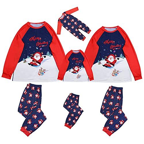 Matching Family Christmas Pajamas Set Xmas Santa Elk Patchwork Pjs Sleepwear 2 Pieces Fall Winter Tops Pants Outfits