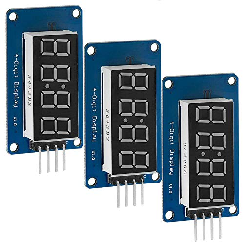 AZDelivery 3 x 4 Bit Digital Tube LED Display Modul I2C mit Clock Display kompatibel mit Arduino und Raspberry Pi mit gratis eBook!