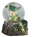 stealstreet ss-g-28057 3.75-inch marine life snow globe with sea turtle statue figurine