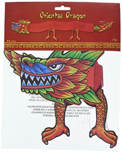 Beistle 55701 Asiatischer Gewebe-Drache, 6-Fuß