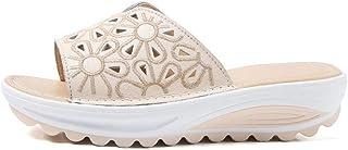 WENHUA Zapatillas de Estar por Casa de Hombre y Mujer, Niño Niña Playa Zapatillas Sandalias Cuña de Fondo Grueso Antidesli...