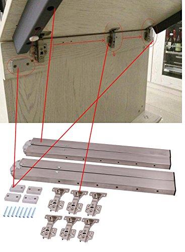 DIY de acero inoxidable plegable armario mesa tabla oculta bisagra ...