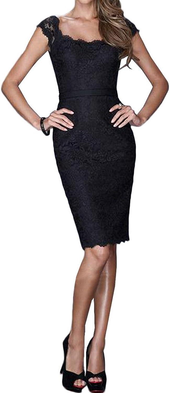 MILANO BRIDE Exquisite Sheath Scoop Neck Lace Short Belt Women Formal Dress