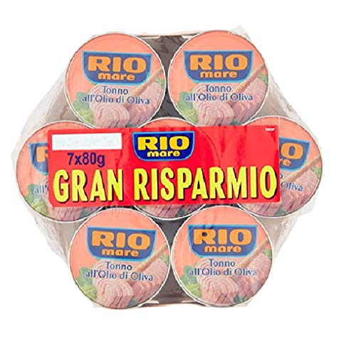 Rio mare 84x 80g Tuna Fish in Olive Oil 12 Mega Pack (7x80g) Ready to Eat! Health Food!