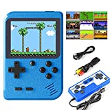JAMSWALL Retro Handheld Game Console, Portable Retro Video Game Console with 400 Classical FC Games 2.8-Inch Screen 800mAh Rechargeable Battery Support for Connecting TV and Two Players(Blue)