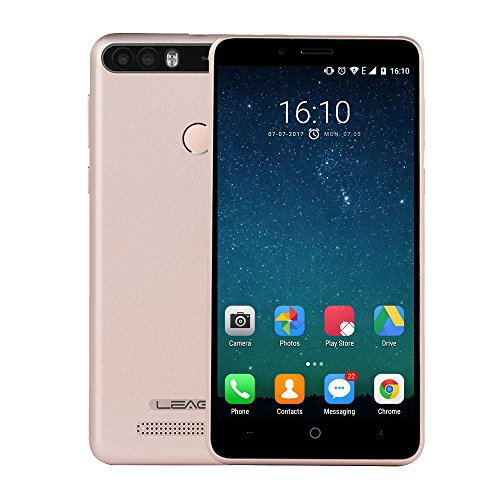 LEAGOO KIICAA POWER 2GB+16GB 5.0 Inch Android 7.0 MTK6580A Quad Core up to 1.3GHz WCDMA & GSM (Gold)