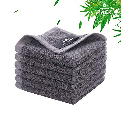 Bamboo Washcloths Wash Cloths for Women Makeup Remover Newborn Bath Face Towel Natural Reusable Soft Absorbent Face Towels for Sensitive Skin  Baby Adult and Infant  6 Pack10quot x 10quot