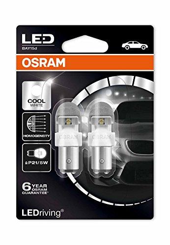 Osram 1557CW-02B Bombilla P21/5W 6000K Bay15D Cool 2W/0,4W 12 V, White, U
