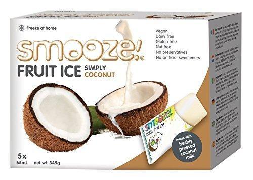 Smooze Alle Natürlichen Früchte Eis-Lollies Einfach Kokosnuss 65 ml (2 stück, Gesamt 10)