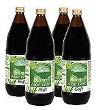 Kopp Vital Bio-Aloe-vera-Saft | Karton mit 4 x 1l | 100 % Direktsaft | Bio-Qualität | Naturtrüber Direktsaft | Naturprodukt | frei von künstlichen Konservierungsstoffen | ohne Zuckerzusatz | keine Fa